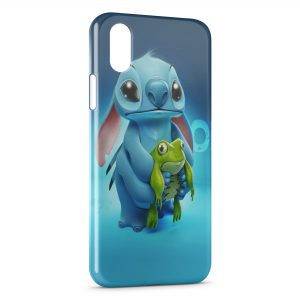 Coque iPhone X & XS Stitch Grenouille 2