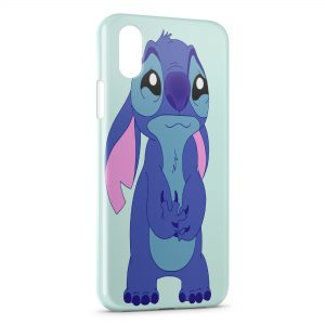 Coque iPhone X & XS Stitch Triste 2
