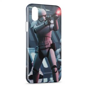 Coque iPhone X & XS Stormtrooper Star Wars Graphic 3 Fire