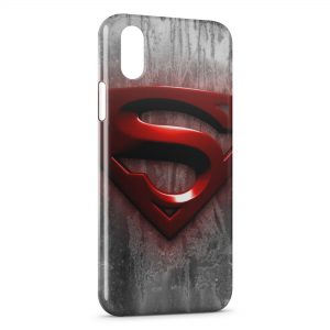 Coque iPhone X & XS Superman Logo 3