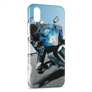 Coque iPhone X & XS Suzuki biker Moto