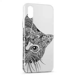 Coque iPhone X & XS Tête de chat