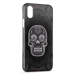 Coque iPhone X & XS Tête de mort Design Black