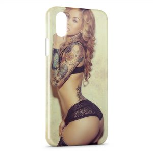 Coque iPhone X & XS Tattoo Sexy Girl 2