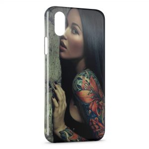 Coque iPhone X & XS Tattoo Sexy Girl 3