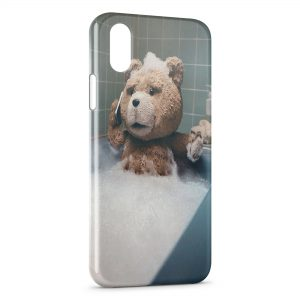 Coque iPhone X & XS Ted Ourson Baignoire