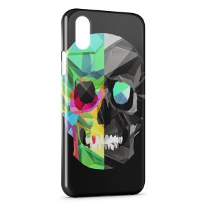 Coque iPhone X & XS Tete de Mort BiFace