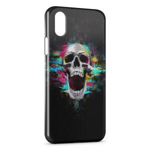 Coque iPhone X & XS Tete de Mort Colors in Black
