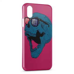Coque iPhone X & XS Tete de Mort Rock & Roll