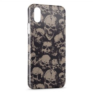 Coque iPhone X & XS Tete de mort 8