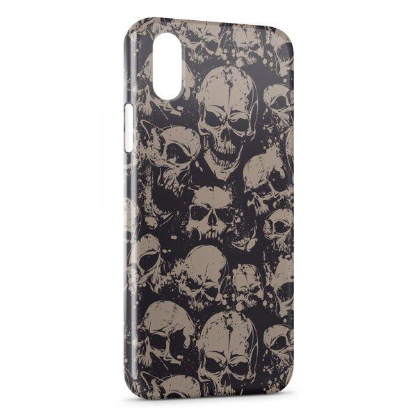 Coque iPhone X & XS Tete de mort 8