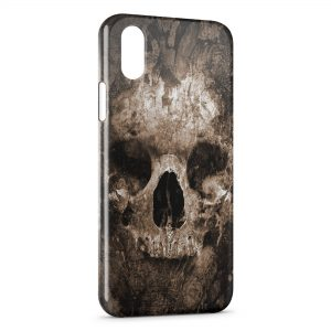 Coque iPhone X & XS Tete de mort2