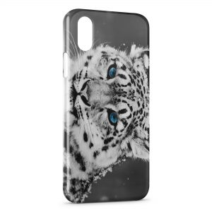 Coque iPhone X & XS Tiger & Blue Eyes