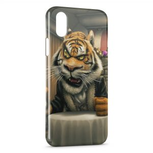 Coque iPhone X & XS Tiger Cartoon