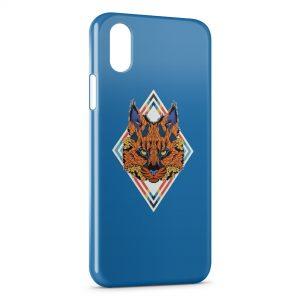 Coque iPhone X & XS Tiger Design Tete