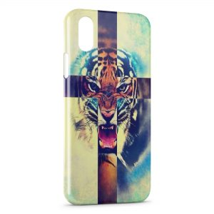 Coque iPhone X & XS Tiger Rugissent