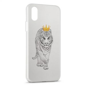 Coque iPhone X & XS Tiger Tigre Style Design