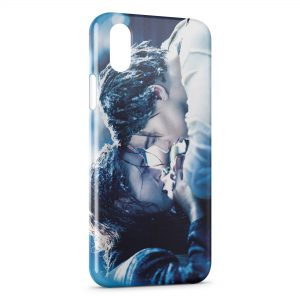 Coque iPhone X & XS Titanic Leonardo Di Caprio Rose 3