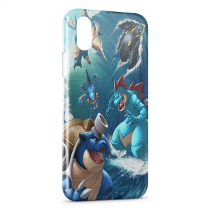 Coque iPhone X & XS Tortank 2 Art Pokemon