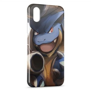 Coque iPhone X & XS Tortank Pokemon Painted