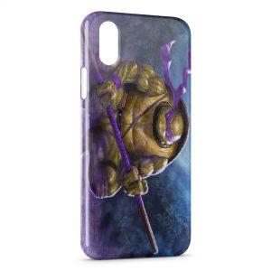 Coque iPhone X & XS Tortue Ninja Violette