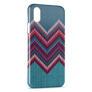 Coque iPhone X & XS Tricot Art Design Hippie