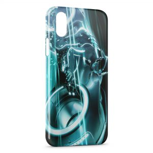 Coque iPhone X & XS Tron Legacy Blue