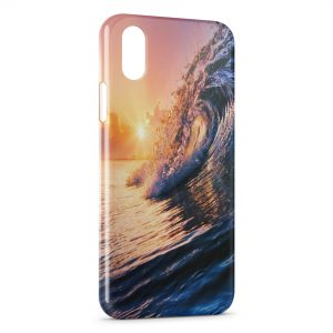 Coque iPhone X & XS Vague & Soleil