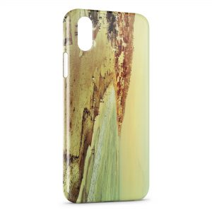 Coque iPhone X & XS Vintage Beach