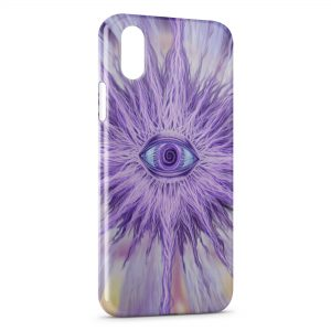 Coque iPhone X & XS Violet Eye
