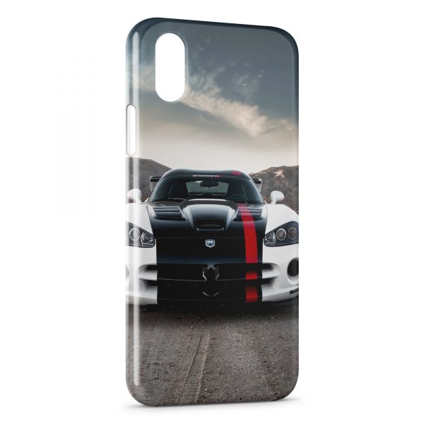Coque iPhone X & XS Viper voiture White & Black