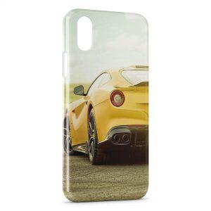 Coque iPhone X & XS Voiture de Luxe Jaune