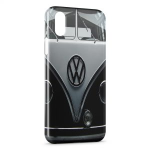 Coque iPhone X & XS Volkswagen Van Black Vintage