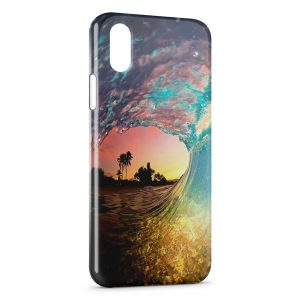 Coque iPhone X & XS Wave and sand
