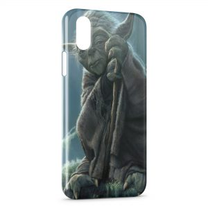 Coque iPhone X & XS Yoda Star Wars 4 Sage