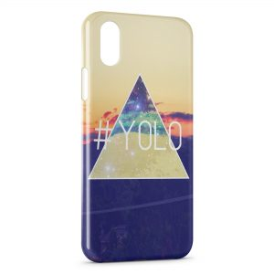 Coque iPhone X & XS Yolo Pyramide