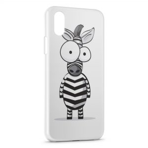 Coque iPhone X & XS Zèbre cartoon
