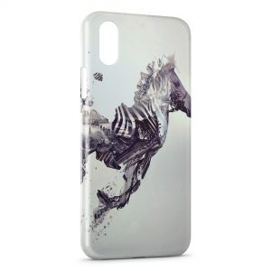 Coque iPhone X & XS Zebre Design
