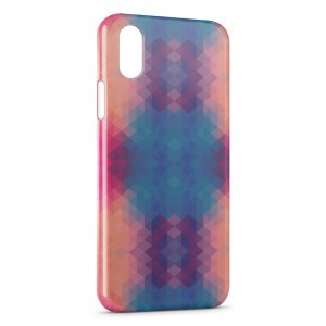 Coque iPhone XR 3D Blue & Orange Colors