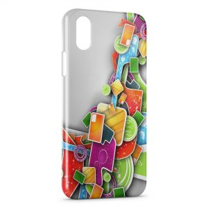 Coque iPhone XR 3D Design colors