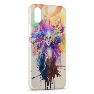 Coque iPhone XR Angel colors