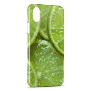 Coque iPhone XR Citrons Vert