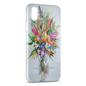 Coque iPhone XR Flowers Exotic