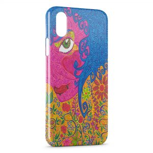 Coque iPhone XR Hippie Flowers