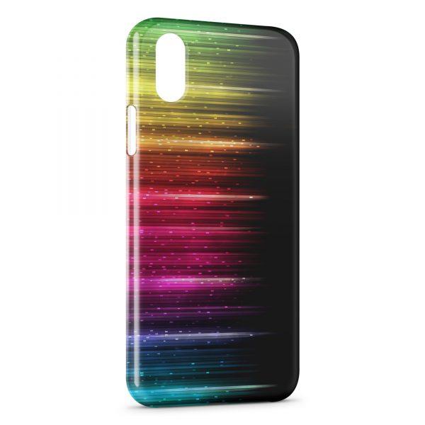 coque iphone xr multicolore