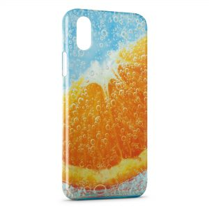 Coque iPhone XR Orange sous l'eau