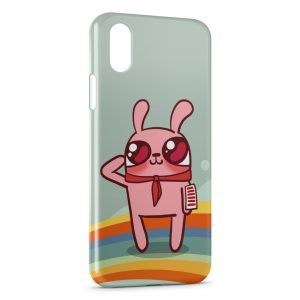 Coque iPhone XR Pink Rabbit