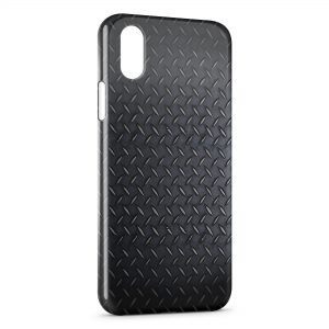 Coque iPhone XR Plaque d'acier