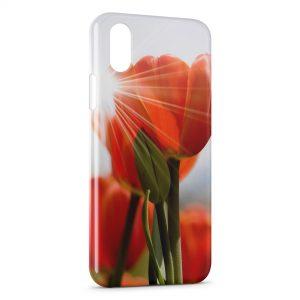 Coque iPhone XR Tulipe