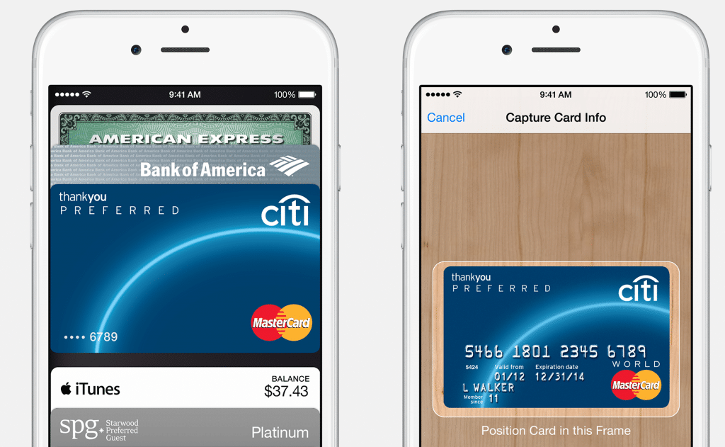 carte de crédit Apple Pay